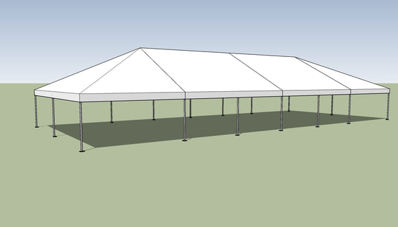 Ohenry 30' x 70' Frame tent top and frame