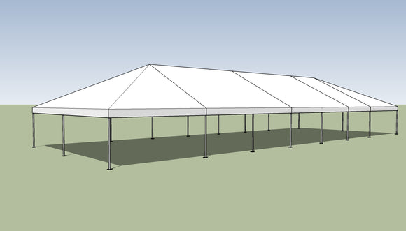 Ohenry 30' x 80' Frame tent top and frame