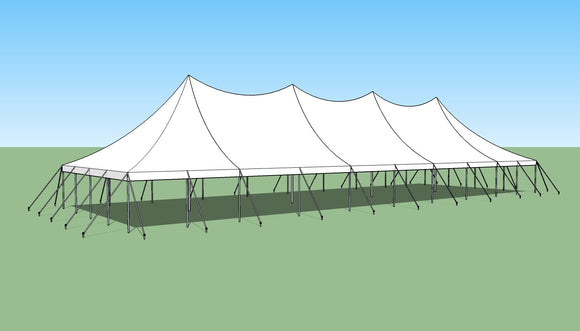 Ohenry 30' x 90' high peak pole tent used as Party tent