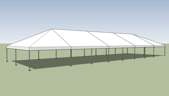 Ohenry 30' x 90' Frame tent top and frame