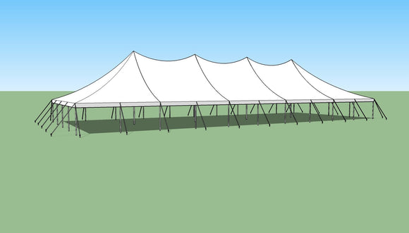 Ohenry 40' x 100' high peak pole tent sketch
