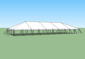 Ohenry Traditional Pole Tent 40' x 100' party tent
