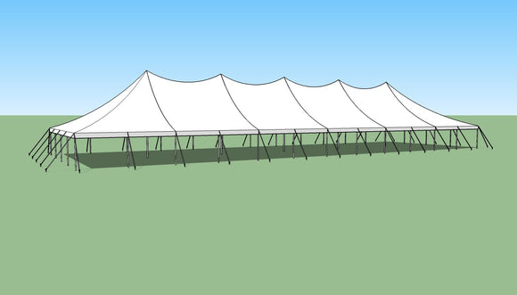 Ohenry 40' x 120' high peak pole tent sketch