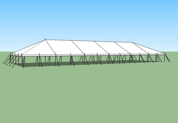 Ohenry Traditional Pole Tent 40' x 120' party tent