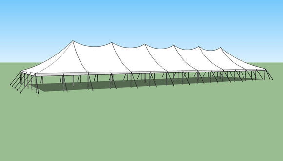 Ohenry 40' x 140' high peak pole tent sketch