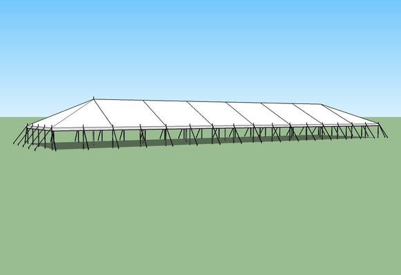 Ohenry Traditional Pole Tent 40' x 140' party tent