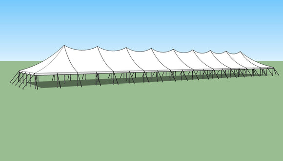 Ohenry 40' x 200' high peak pole tent sketch