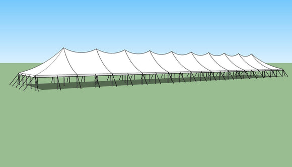 Ohenry 40' x 220' high peak pole tent sketch