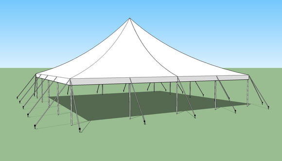 Ohenry 40' x 40' high peak pole tent sketch