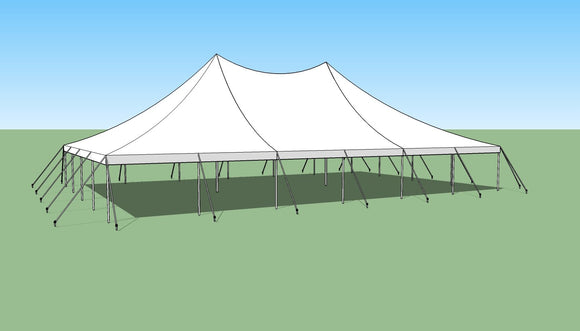 Ohenry 40' x 60' high peak pole tent sketch