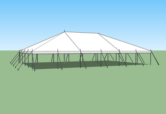 Ohenry Traditional Pole Tent 40' x 60' party tent