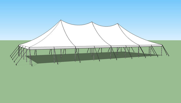 Ohenry 40' x 80' high peak pole tent sketch
