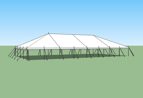 Ohenry Traditional Pole Tent 40' x 80' party tent
