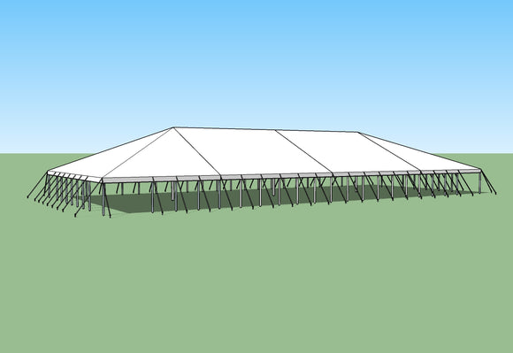 Traditional Pole Tent - 50' x 140' Expandable Top & Hardware Kit