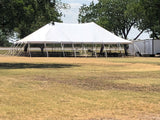 Customer's 50' x 80' pole tent used as Party tent