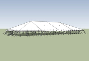 Ohenry Traditional Pole Tent 60' x 120' party tent