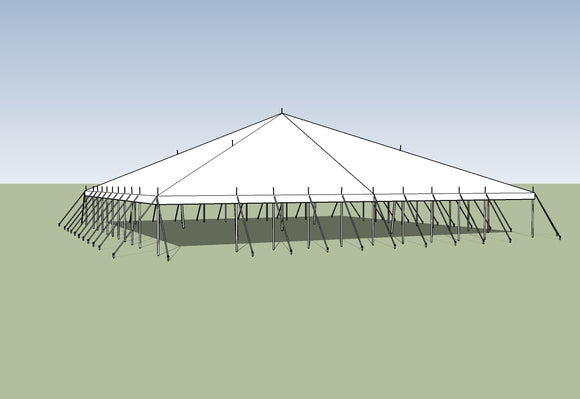 Ohenry Traditional Pole Tent 60' x 60' party tent