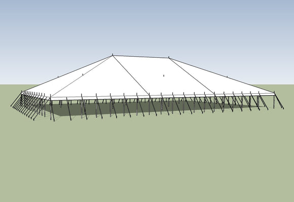 Ohenry Traditional Pole Tent 70' x 100' party tent