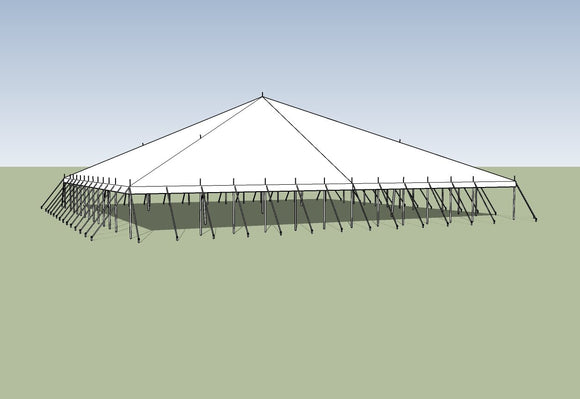 Ohenry Traditional Pole Tent 70' x 70' party tent