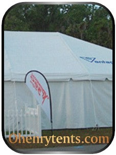 solid white party tent sidewalls in single rolls