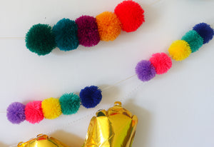 BUILD YOUR OWN POM POM GARLAND- LARGE POMS