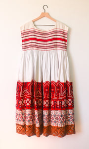 VINTAGE MEXICAN DRESS WITH CAP SLEEVES