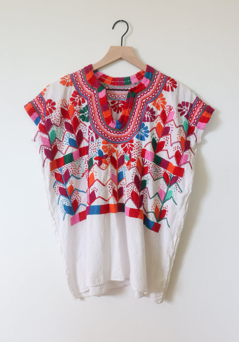 VINTAGE EMBROIDERED TOP- MULTI