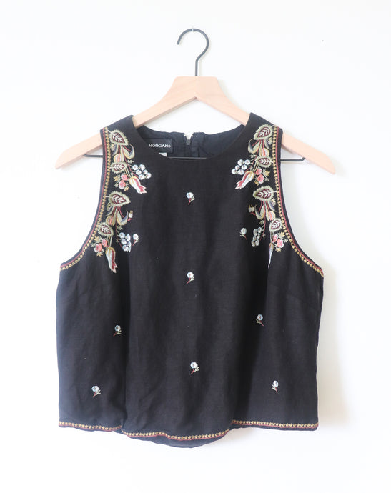 VINTAGE TANK WITH EMBROIDERY