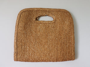 VINTAGE SQUARE STRAW BAG
