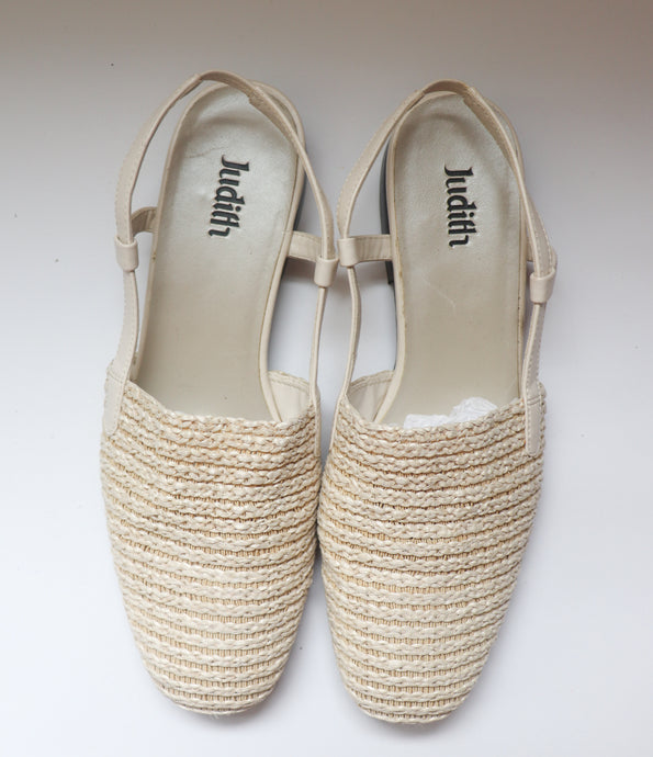 VINTAGE WOVEN CLOSED TOE MULES