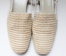 Load image into Gallery viewer, VINTAGE WOVEN CLOSED TOE MULES