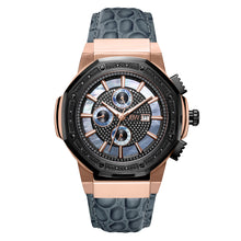 Load image into Gallery viewer, JBW Men's Saxon Leather Diamond Watch
