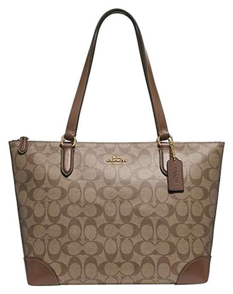 COACH SIGNATURE ZIP TOTE SHOULDER HANDBAG - boutq.com