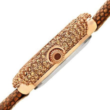 Load image into Gallery viewer, BURGI WOMEN'S BUR246 SWAROVSKI COLORED CRYSTAL & DIAMOND ACCENTED LEATHER STRAP WATCH PACKED IN A BEAUTIFUL GIFT BOX