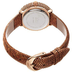 BURGI WOMEN'S BUR246 SWAROVSKI COLORED CRYSTAL & DIAMOND ACCENTED LEATHER STRAP WATCH PACKED IN A BEAUTIFUL GIFT BOX