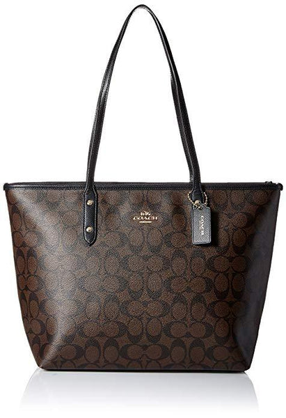 COACH SIGNATURE CITY ZIP TOTE BAG HANDBAG - boutq.com