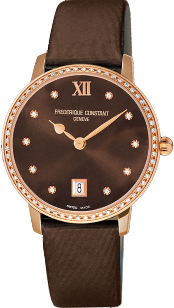 Frederique Constant  Slimline Ladies Watch  Model FC-220C4SD34 - boutq.com