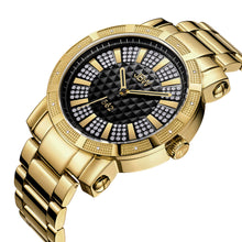 "Load image into Gallery viewer, JBW Men's ""562"" JB-6225-J 0.12 ctw Two-tone Gold Plated Diamond Wrist Watch"