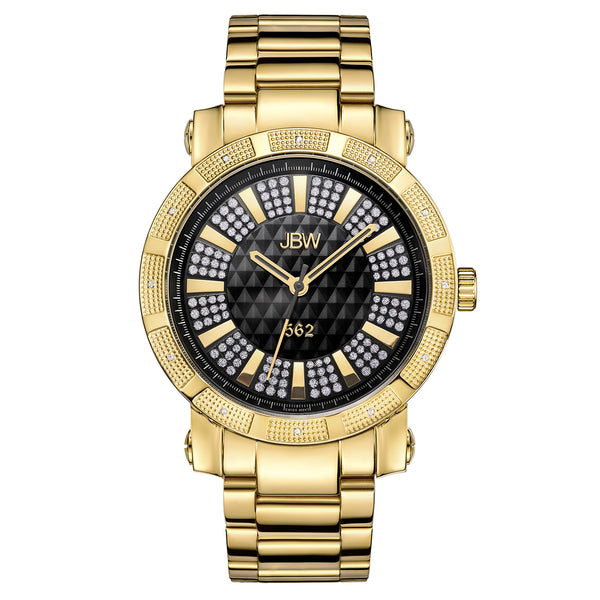 "JBW Men's ""562"" JB-6225-J 0.12 ctw Two-tone Gold Plated Diamond Wrist Watch"