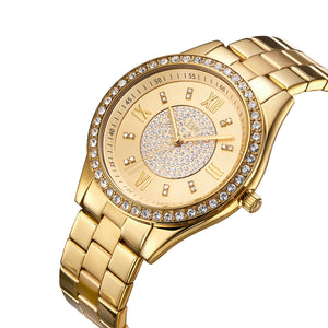 JBW Women's J6303-Set Mondrian Luxury Jewelry Stainless Steel Gold Rose Gold Diamond Watch Bracelet Sets