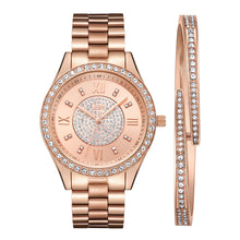 Load image into Gallery viewer, JBW Women's J6303-Set Mondrian Luxury Jewelry Stainless Steel Gold Rose Gold Diamond Watch Bracelet Sets