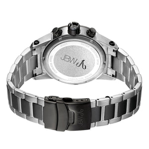 JBW Luxury Men's Strider 0.12 ctw Diamond Wrist Watch with Stainless Steel Link Bracelet