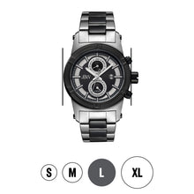 Load image into Gallery viewer, JBW Luxury Men's Strider 0.12 ctw Diamond Wrist Watch with Stainless Steel Link Bracelet
