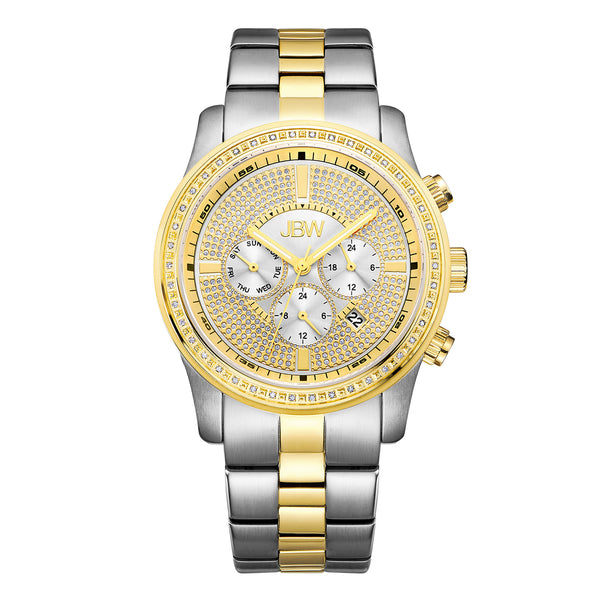 JBW Luxury Men's Vanquish 0.42 ctw Diamond Wrist Watch with Stainless Steel Link Bracelet
