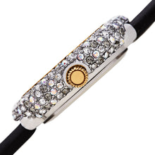 Load image into Gallery viewer, Women's Burgi BUR227 Swarovski Crystal Diamond Marker Satin Leather Strap Watch - boutq.com