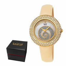 Load image into Gallery viewer, Women's Burgi BUR209 Swarovski Crystal Diamond Sparkle Leather Watch - boutq.com