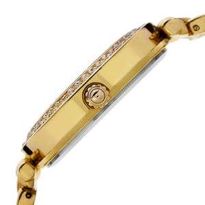 New Women's Burgi Diamond Markers Brown Dial Rose-tone Bracelet Watch - boutq.com