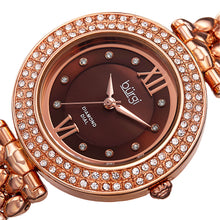 Load image into Gallery viewer, New Women's Burgi Diamond Markers Brown Dial Rose-tone Bracelet Watch - boutq.com