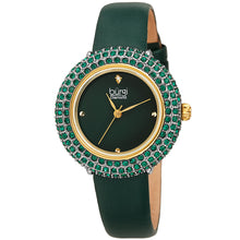 Load image into Gallery viewer, Women's Burgi BUR227 Swarovski Crystal Diamond Marker Satin Leather Strap Watch
