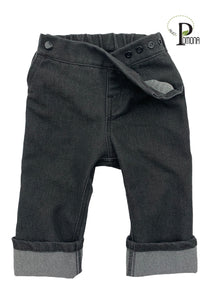 Project Pomona Stretch Denim Jeans in Charcoal (ECO/Stretch Waist)